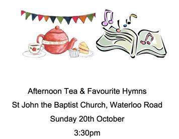 - Afternoon tea and favourite hymns