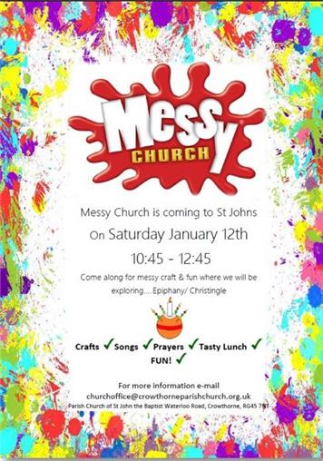 - Messy Church - Saturday January 12th