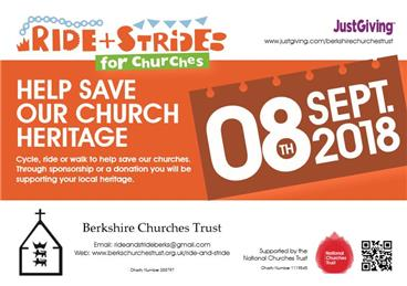 - Ride+Stride event on 8th September